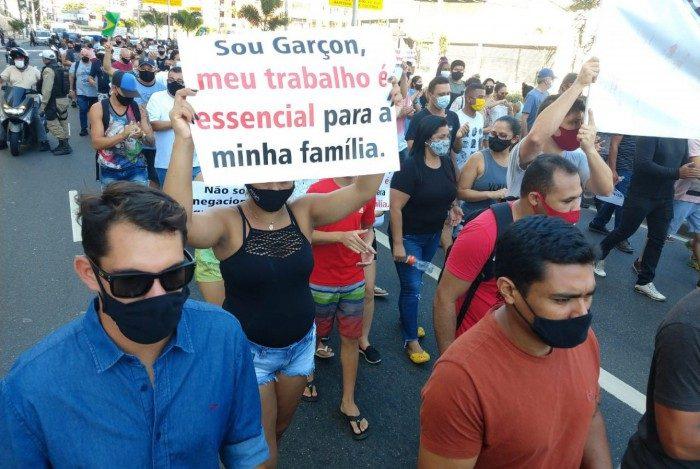 Protesto contra as medidas de restrição em Niterói