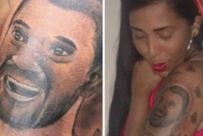 Rosto de Gilberto, do 'BBB21', vira tatuagem no braço de sua irmã