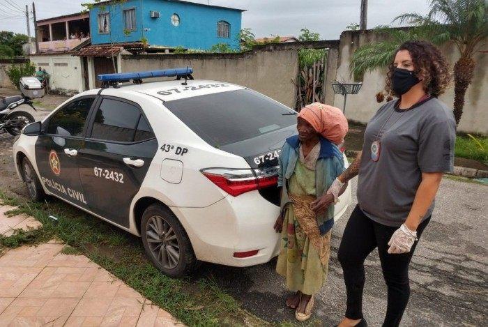 Maria das Graças foi resgatada pela Polícia Civil
