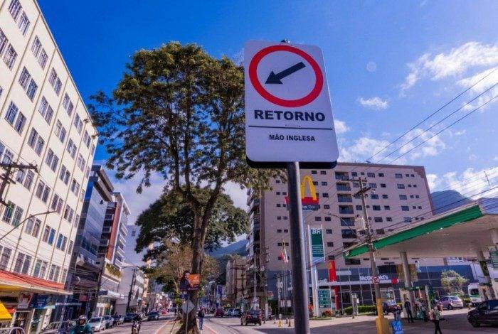 Trecho da Avenida Feliciano Sodré, na Reta, em Teresópolis, passa a ser mão inglesa