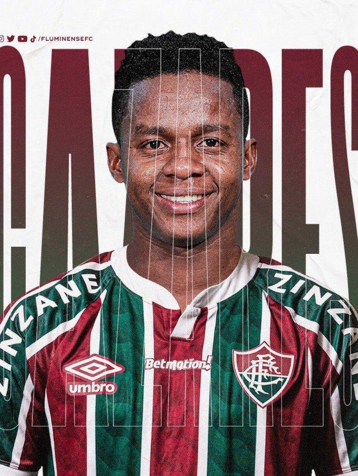 O meia-atacante Cazares é o novo reforço do Fluminense! Seja bem-vindo, Guerreiro!