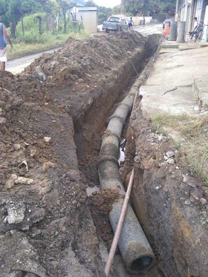 Secretaria de Infraestrutura de VR iniciou a construção de uma rede de drenagem de água pluvial na Estrada União