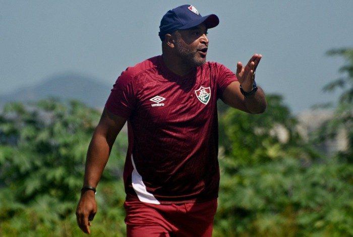 Rio de Janeiro, RJ - Brasil - 16/04/2021 - CTCC - Roger Machado Treino do Fluminense.Mailson Santana/Fluminense F.C.
