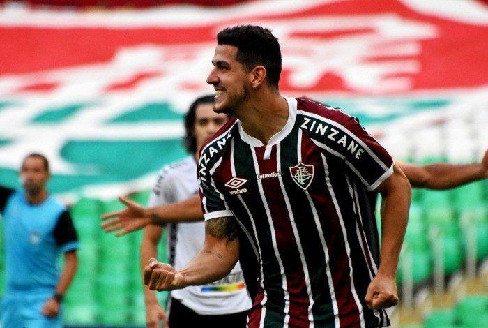 Nino marcou o gol da vitória do Fluminense sobre o Botafogo