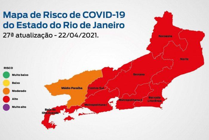 27ª edição do Mapa de Risco da covid-19