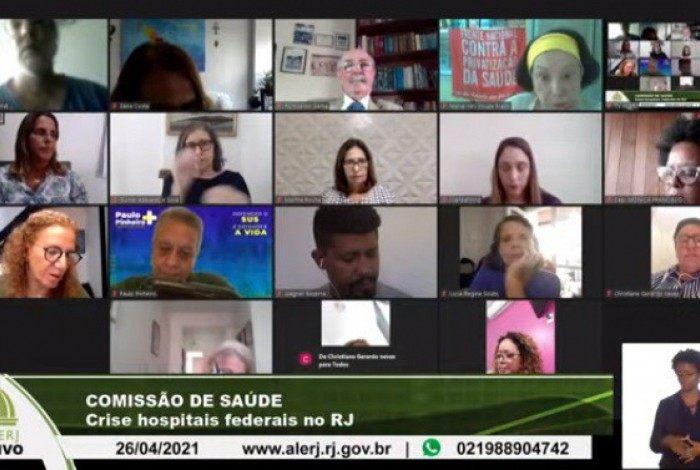 Audiência pública debateu a situação dos atendimentos de alta complexidade na rede hospitalar federal do Estado do Rio