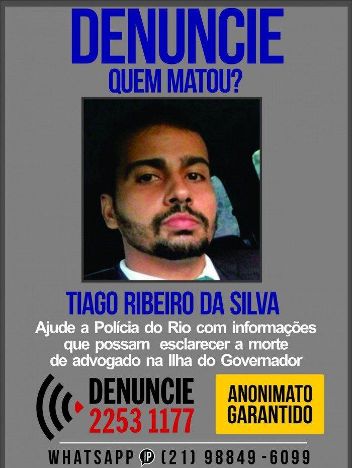 Advogado Tiago Ribeiro foi morto na Ilha do Governador