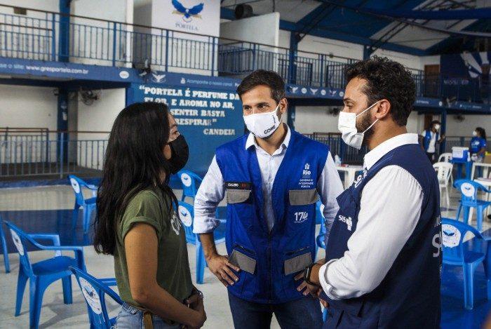 Rio de Janeiro, 27/04/2021, Prefeitura do Rio na presenca do secretario Marcelo Calero, e ONG CORE, visitam a quadra da escola de samba PORTELA, Madureira zona norte do Rio