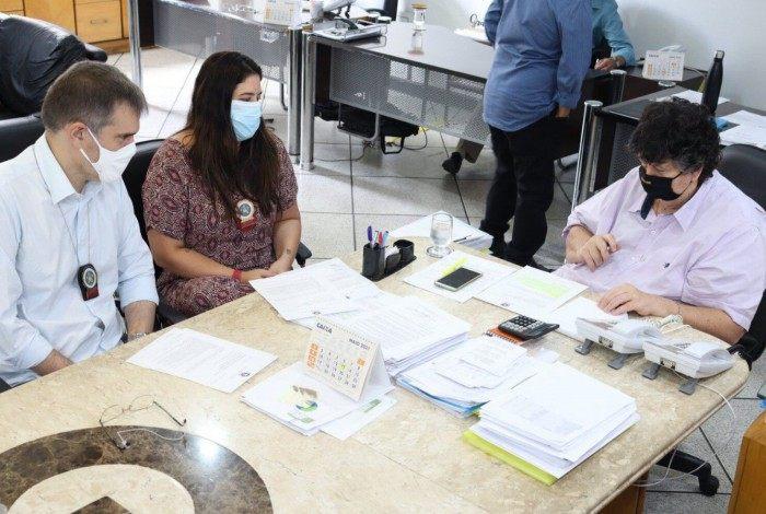 Reunião sobre parceria da prefeitura com a Deam de Volta Redonda
