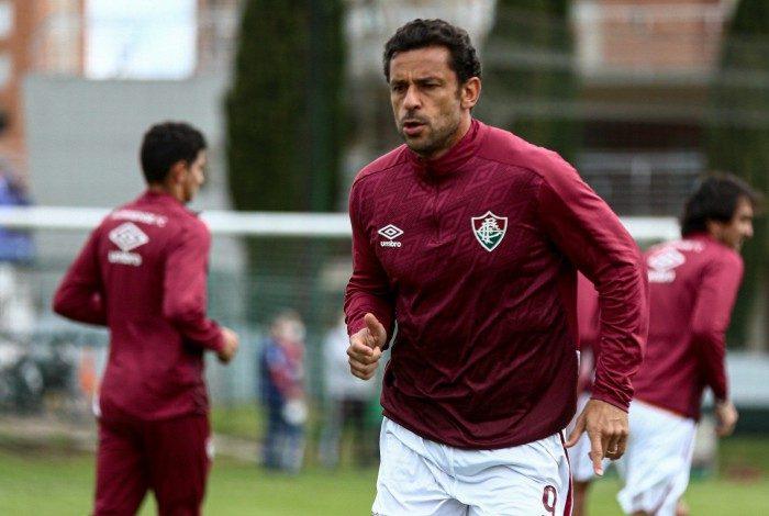 Fred em treino em Bogotá