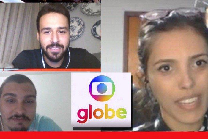 Rafael Ávila, Luiz Gontijo e Alana da Globe na live do Meia Hora