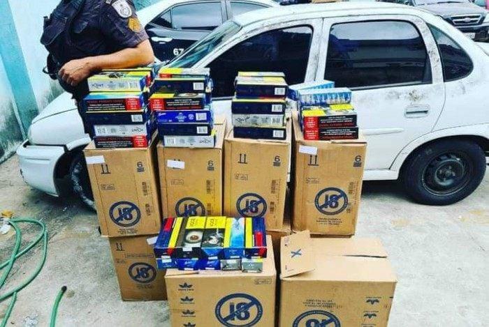 Policiais do 28º Batalhão recuperam carga de cigarros roubada