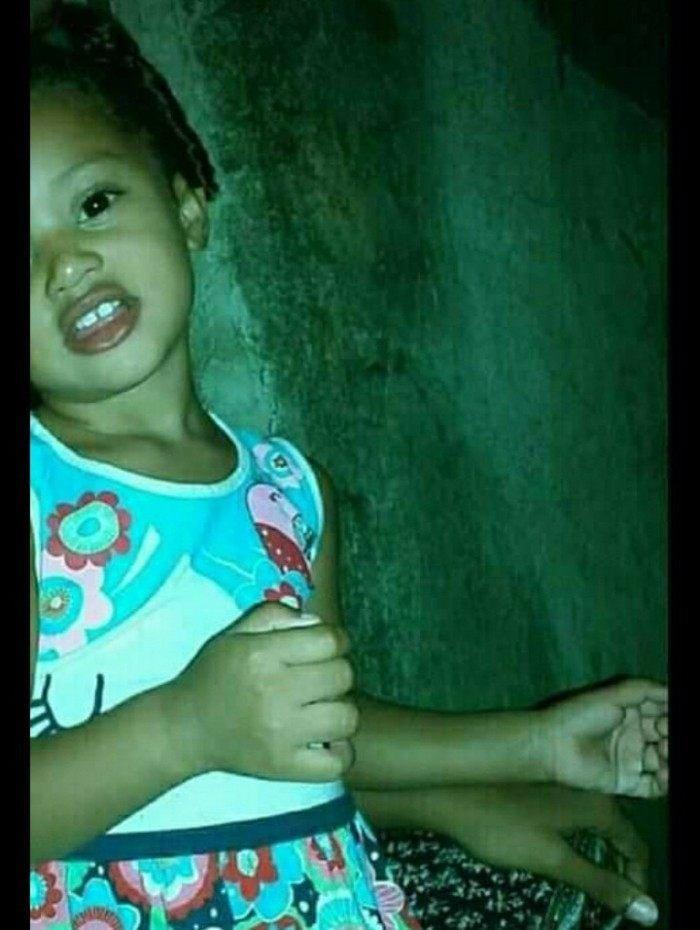 A pequena Manuelle completaria seis anos no próximo sábado