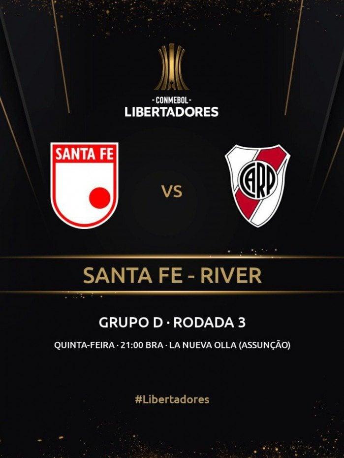 Mudanças de data e de local de Santa Fé x River Plate foram confirmadas pela Conmebol