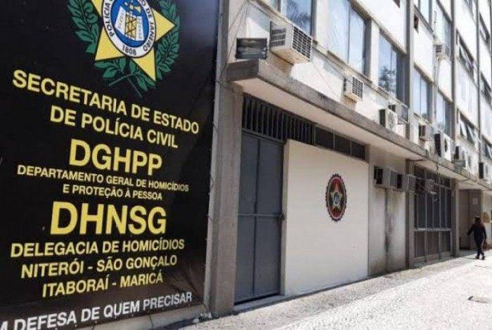 Sede da Delegacia de Homicídios de Niterói, São Gonçalo e Itaboraí (DHNSGI), no Centro de Niterói, na Região Metropolitana