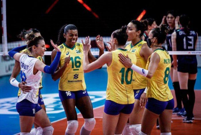 Seleção brasileira feminina de vôlei teve grande atuação contra o Japão