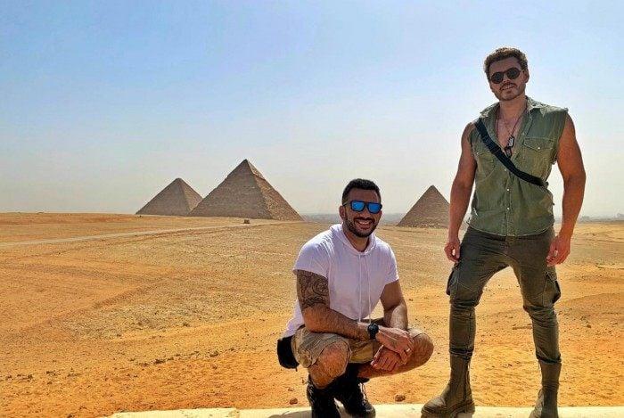 Vitor Vianna e Franklin David estão no Egito