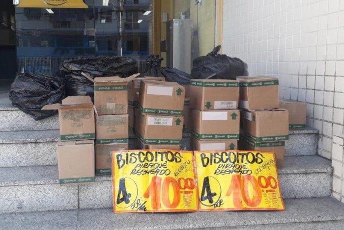 Mercadoria roubada foi apreendida e levada para a delegacia de Madureira, na Zona Norte do Rio