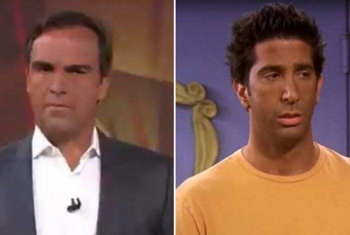 Bronzeado de Tadeu Schmidt vira meme e é comparado ao de personagem de 'Friends'