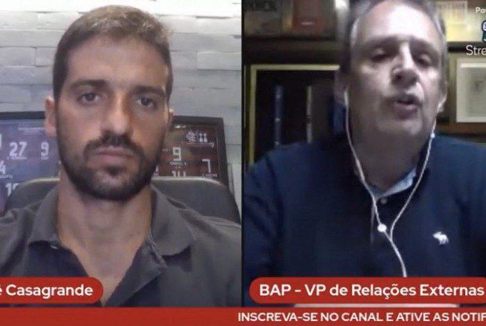 Bap durante entrevista ao Jornal O Dia