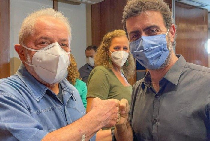 Lula e Marcelo Freixo