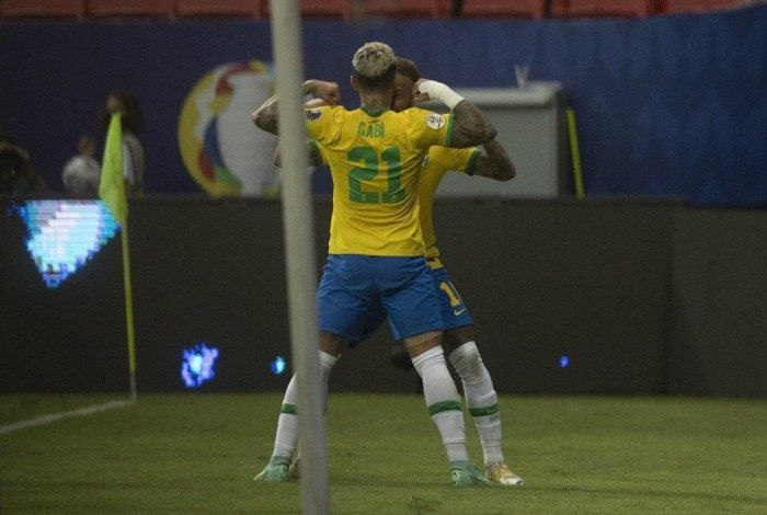 Brasil x Venezuela pela primeira rodada da Copa América 2021. Lucas Figueiredo/CBF