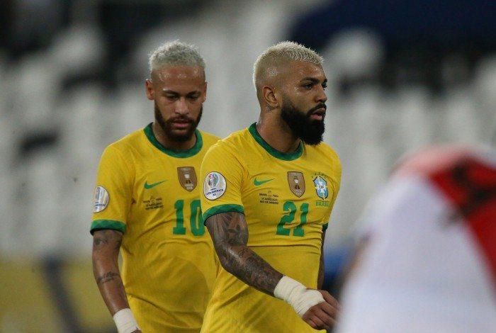 Brasil x Peru pela 2 rodada da Copa America 2021. Neymar e Gabigol