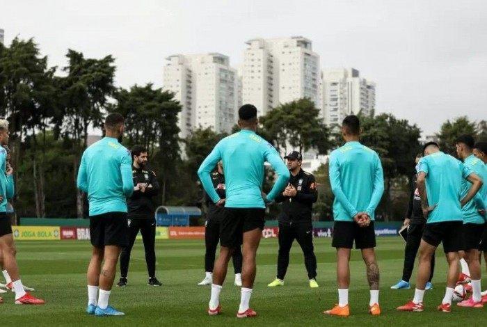 Treinamento da seleção olímpica no CT do Palmeiras