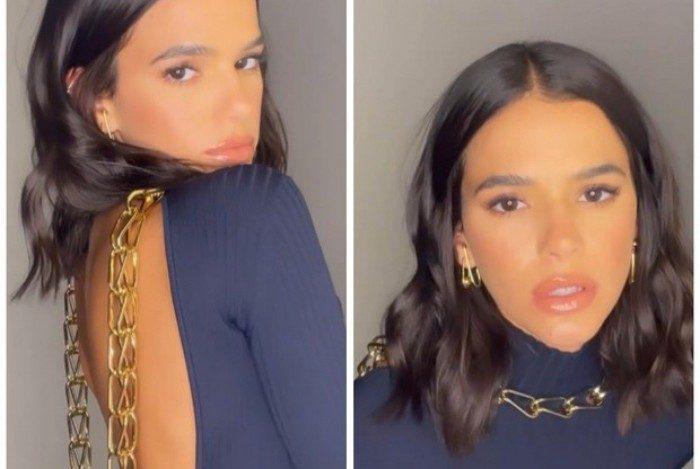 Bruna Marquezine sensualiza nas redes sociais