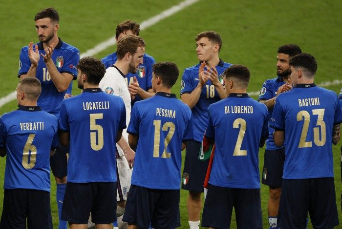 Itália dominou a seleção da Eurocopa