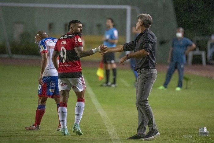 Gabigol e Renato Gaúcho