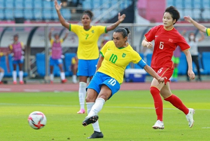Marta marcou duas vezes na estreia do Brasil nas Olimpíadas