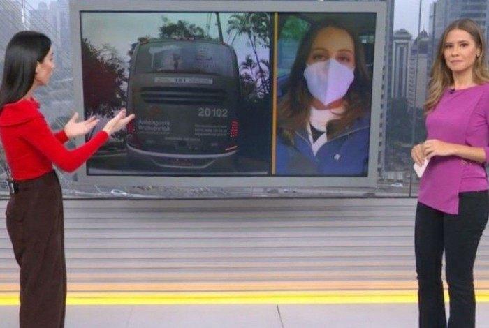 Carol Ianelli conversou com Michelle Barros, do 'Bom Dia SP' após acidente