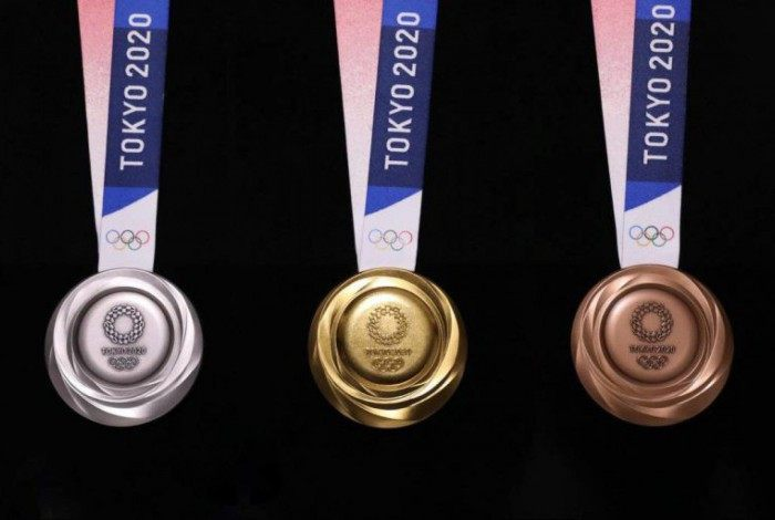Medalhas distribuídas nas Olimpíadas de Tóquio