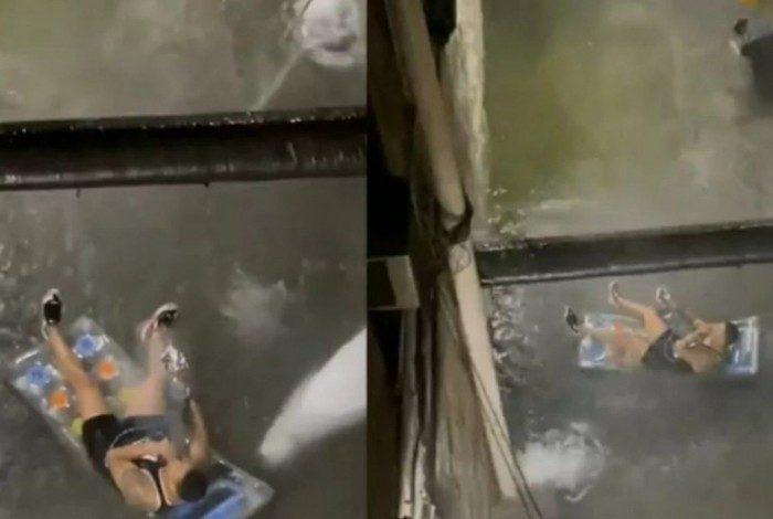 Imagens do vídeo que viralizou na internet