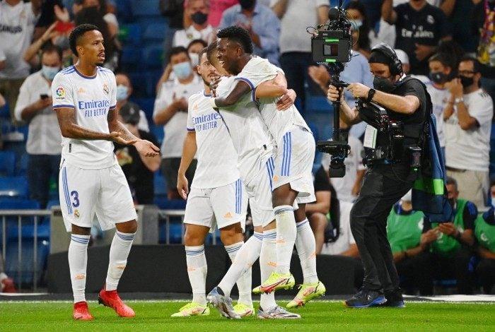 Vinicius Jr marcou na vitória do Real Madrid