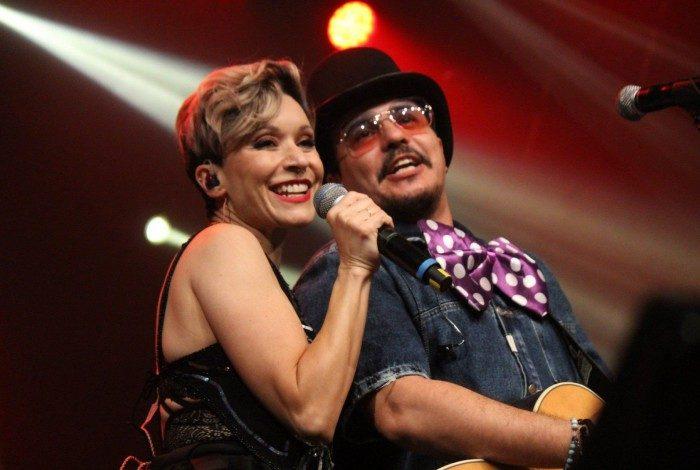 A dupla Patrícia Marx e Luciano Nassyn relembraram sucessos do grupo Trem da Alegria