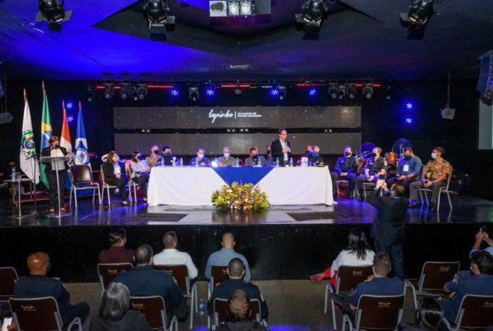 evento reuniu autoridades civis e militares e representantes de guardas municipais de 19 municípios e do Paraná