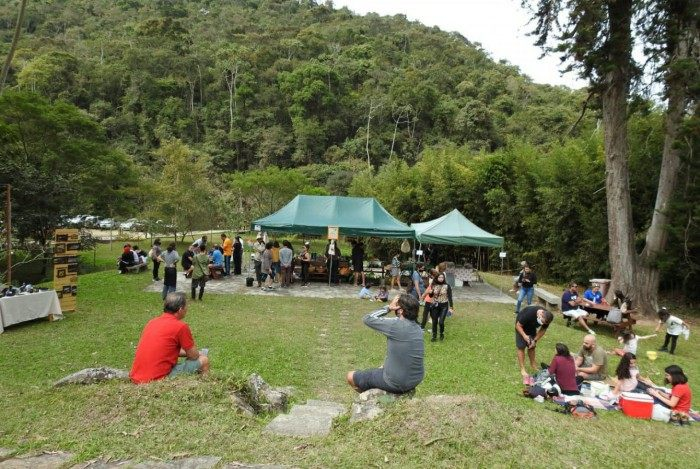 Visitantes no Parque Municipal Montanhas de Teresópolis