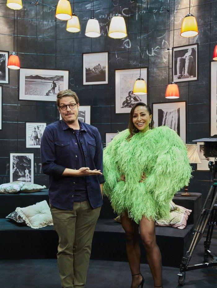 Sabrina Sato participa do programa de Fábio Porchat