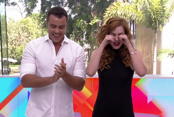 Joaquim Lopes e Sophia Abrahão se despedem do 'Vídeo Show'