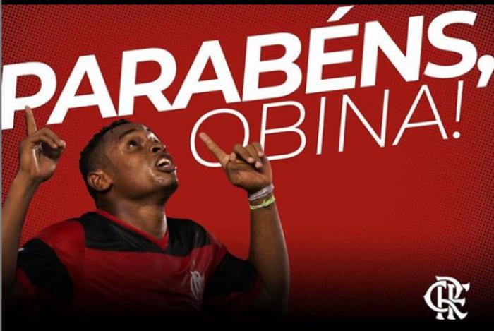 A homenagem que o Flamengo fez a Obina