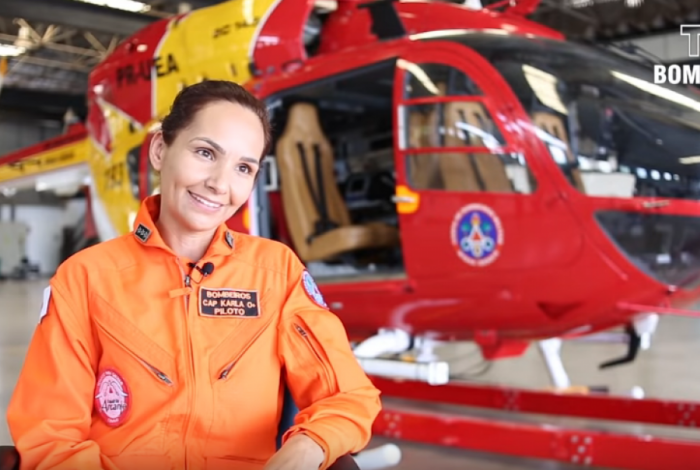 Capitã Karla Lessa resgata vítimas em Brumadinho
