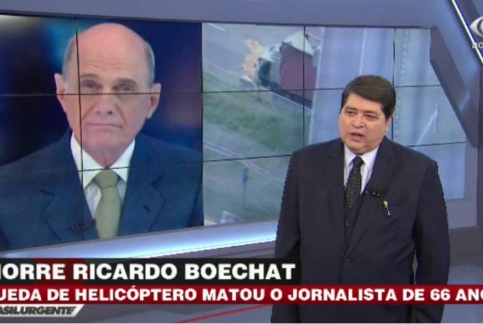 Datena se emociona ao anunciar a morte de Ricardo Boechat
