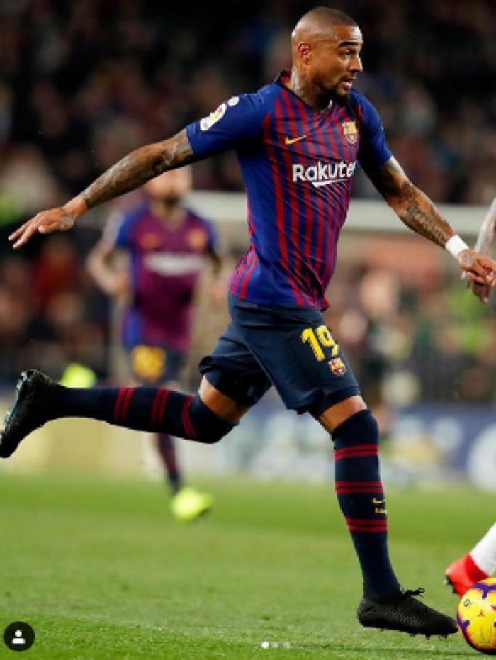 Kevin Prince-Boateng em jogo pelo Barça