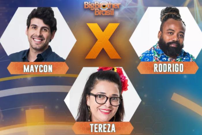 Maycon, Rodrigo e Tereza estão no quinto Paredão