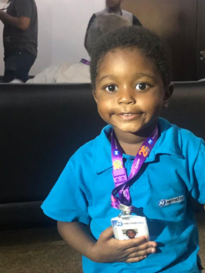 Pietro, de 3 anos, ganhou outra festa nesta quinta-feira