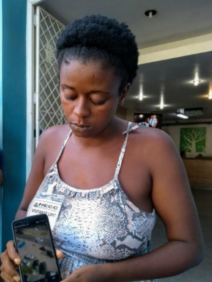 Daiane ainda não foi procurada por nenhuma autoridade e está sendo assistida pela ONG Rio de Paz