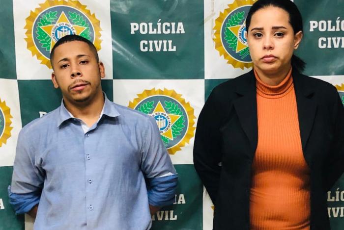 Jonathan Ferreira Barbosa e Flávia Rubio Francisco foram presos pela prática dos crimes tentativa de estelionato e associação criminosa