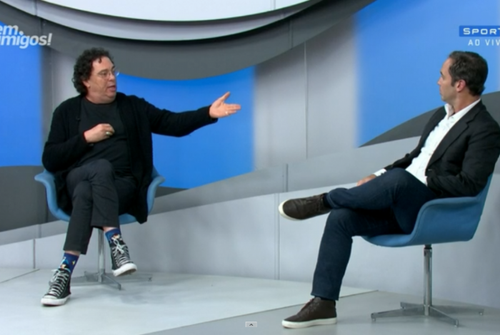 Casagrande discute com Caio Ribeiro ao vivo no SporTV